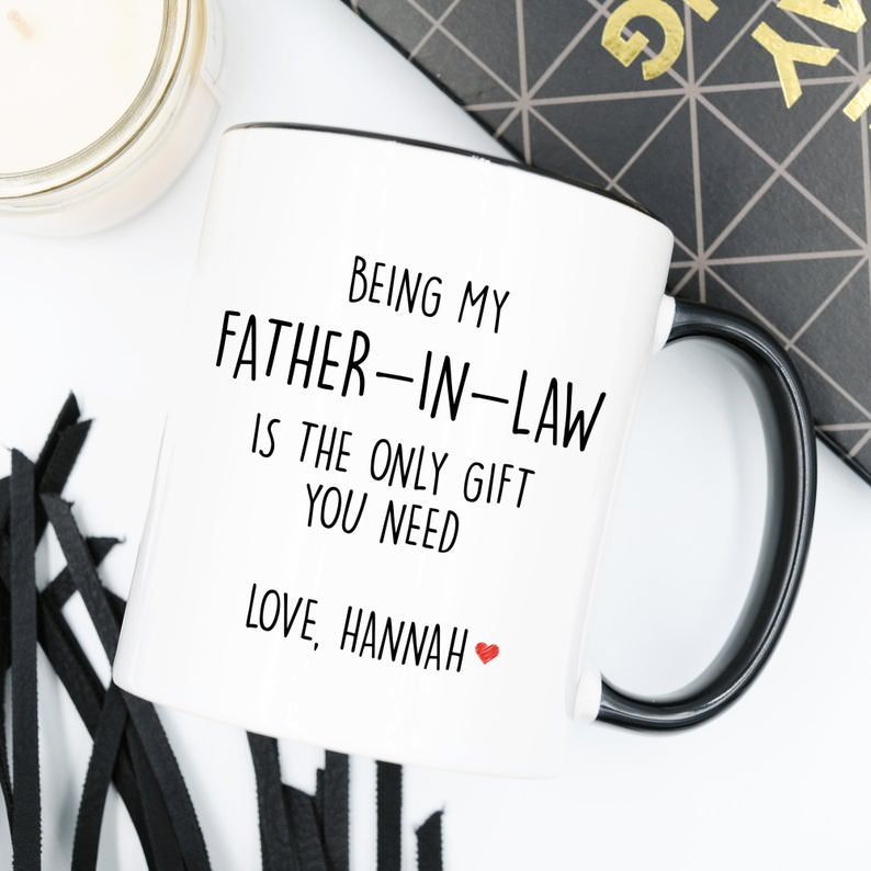 Father's Day Wedding Gift Custom Monogrammed Father-in-Law Coffee Mug Etsy