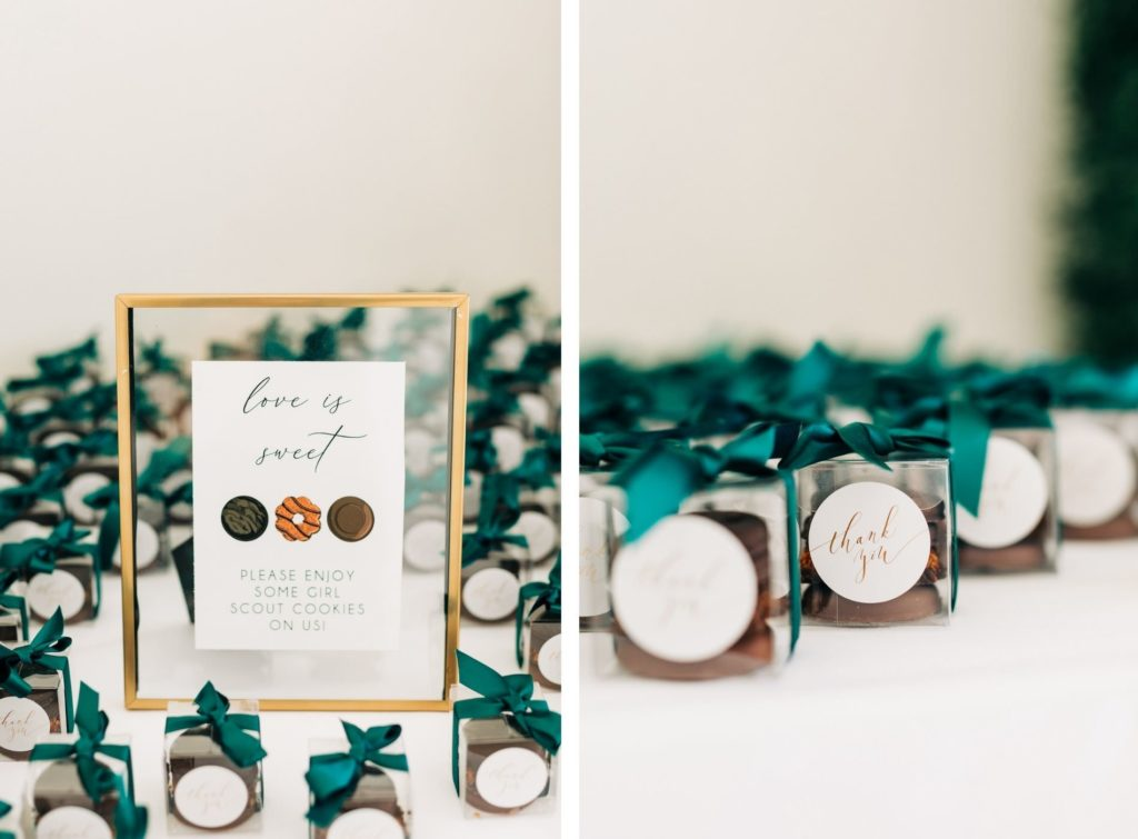 Unique Wedding Favor, Girl Scout Cookies, Love is Sweet Signage   Tampa Bay Wedding Rentals Kate Ryan Event Rentals