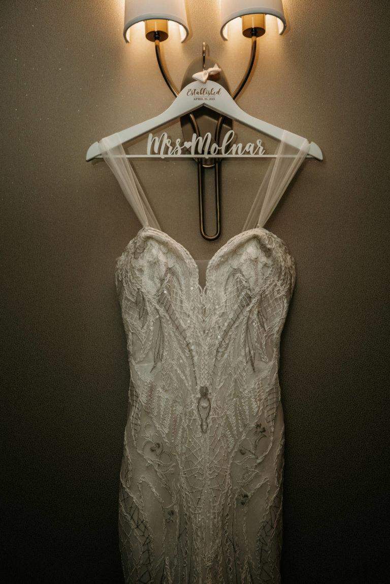 Badgley Mischka Embellished Mermaid Floral Lace Wedding Dress   Tampa Bay Wedding Dress Shop Truly Forever Bridal