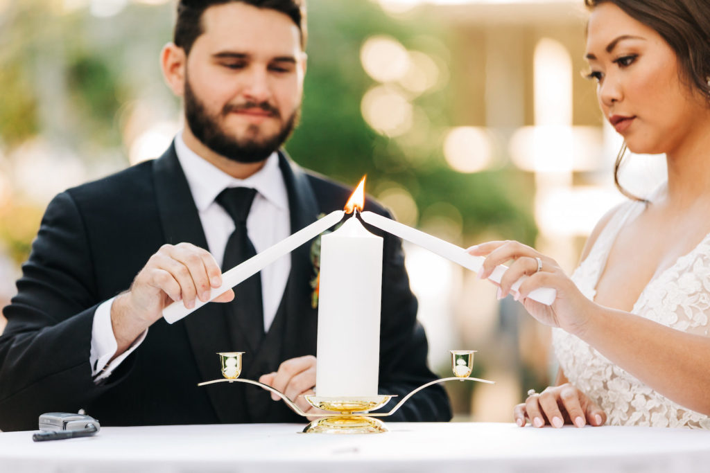 Classic Bride and Groom Candle Lighting Unity Ceremony
