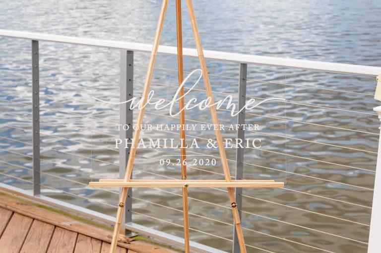 Modern Clear Acrylic Wedding Welcome Sign
