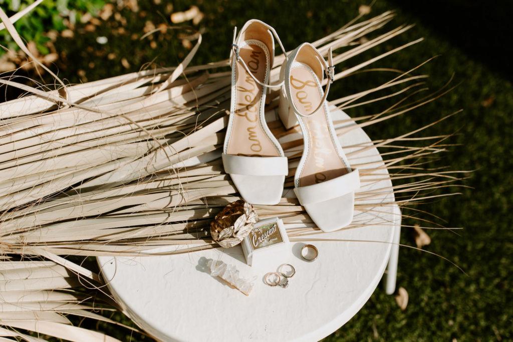 Sam Edelman White Strap Block Heel Bridal Wedding Shoes