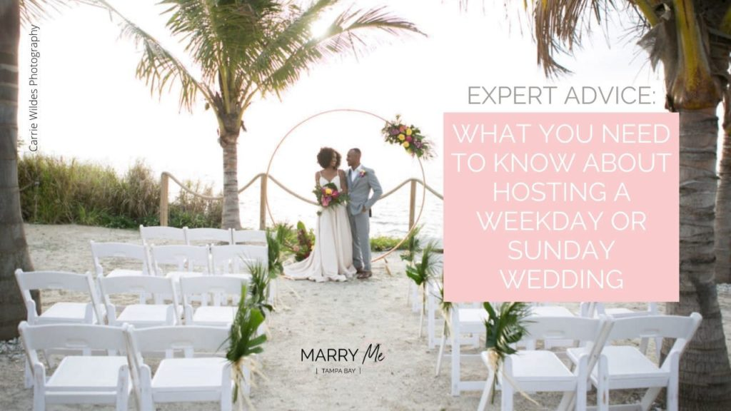 Expert Advice: What You Need to Know about Hosting a Weekday or Sunday Wedding | Carrie Wildes Photography