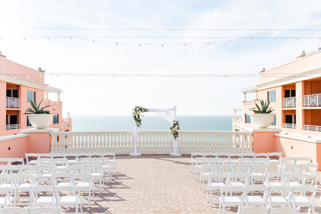 Beach View Wedding Ceremony | Florida Wedding at Hyatt Regency Clearwater Beach