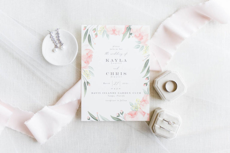 Romantic Elegant Floral Garden Wedding Invitation | Pastel Pink Flowers with Greenery | Wedding Invites by Minted