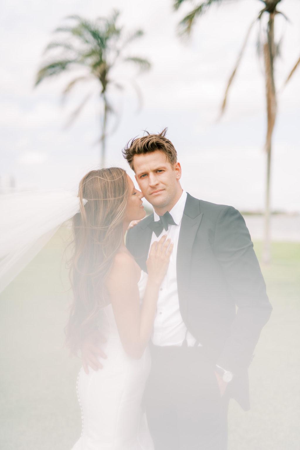 Creative Bride and Groom Veil Wedding Photo | Tampa Bay Wedding Photographer Kera Photography