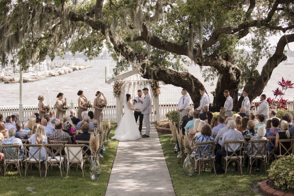 Intimate Waterfront Boho Wedding Ceremony   Sarasota Wedding Planner Kelly Kennedy Weddings and Events   Palmetto Riverside Bed and Breakfast