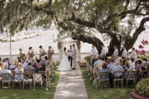 Intimate Waterfront Boho Wedding Ceremony | Sarasota Wedding Planner Kelly Kennedy Weddings and Events | Palmetto Riverside Bed and Breakfast