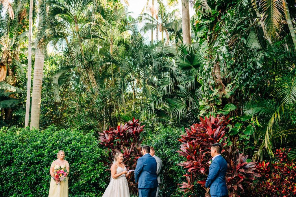 Tropical Florida Outdoor Garden Wedding Ceremony | St. Petersburg Wedding Venue Sunken Gardens