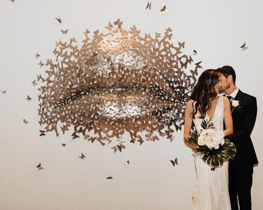 Bride and Groom Modern Wedding Portrait | Tampa Wedding Venue The Current Hotel