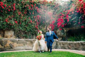 Tropical Florida Outdoor Garden Wedding Portrait | St. Petersburg Wedding Venue Sunken Gardens