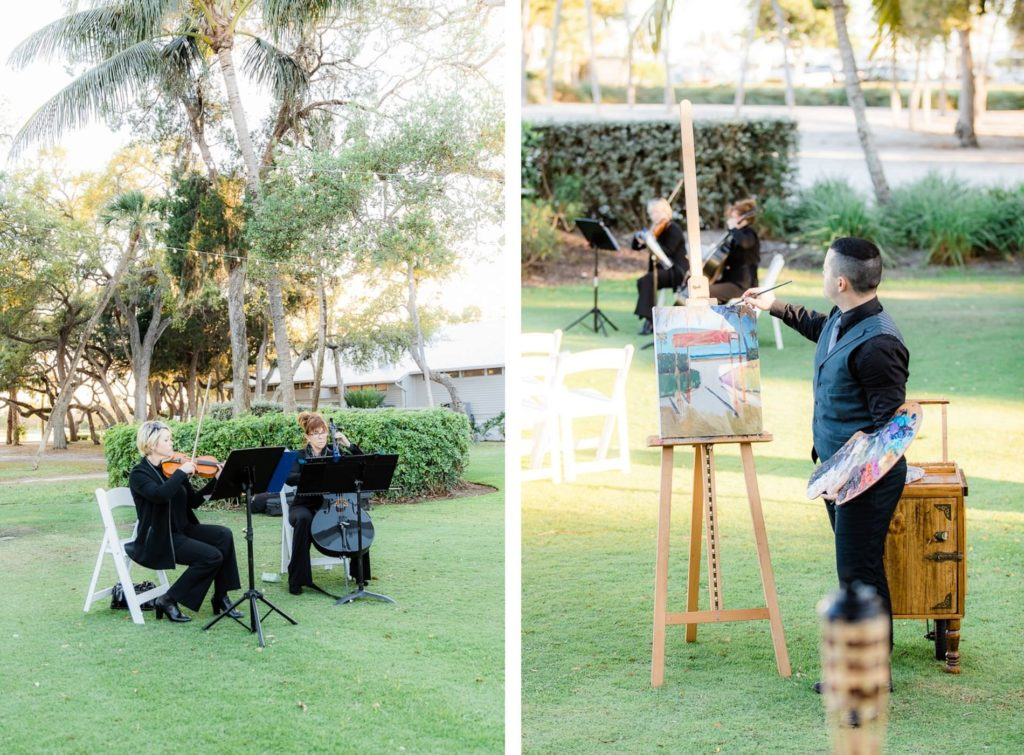 Wedding Ceremony Entertainment, Violinists, Cellists, Live Painter | Tampa Bay Wedding Venue The Resort at Longboat Key Club
