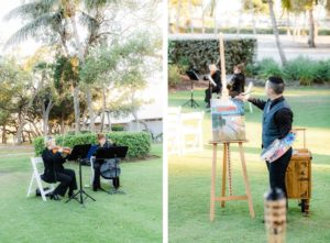 Wedding Ceremony Entertainment, Violinists, Cellists, Live Painter   Tampa Bay Wedding Venue The Resort at Longboat Key Club