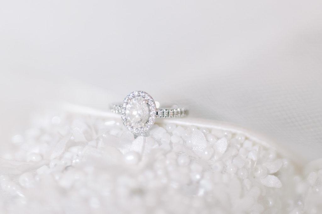 Oval Diamond Engagement Ring with Halo | Tampa Bay Wedding Photographer Kera Photography