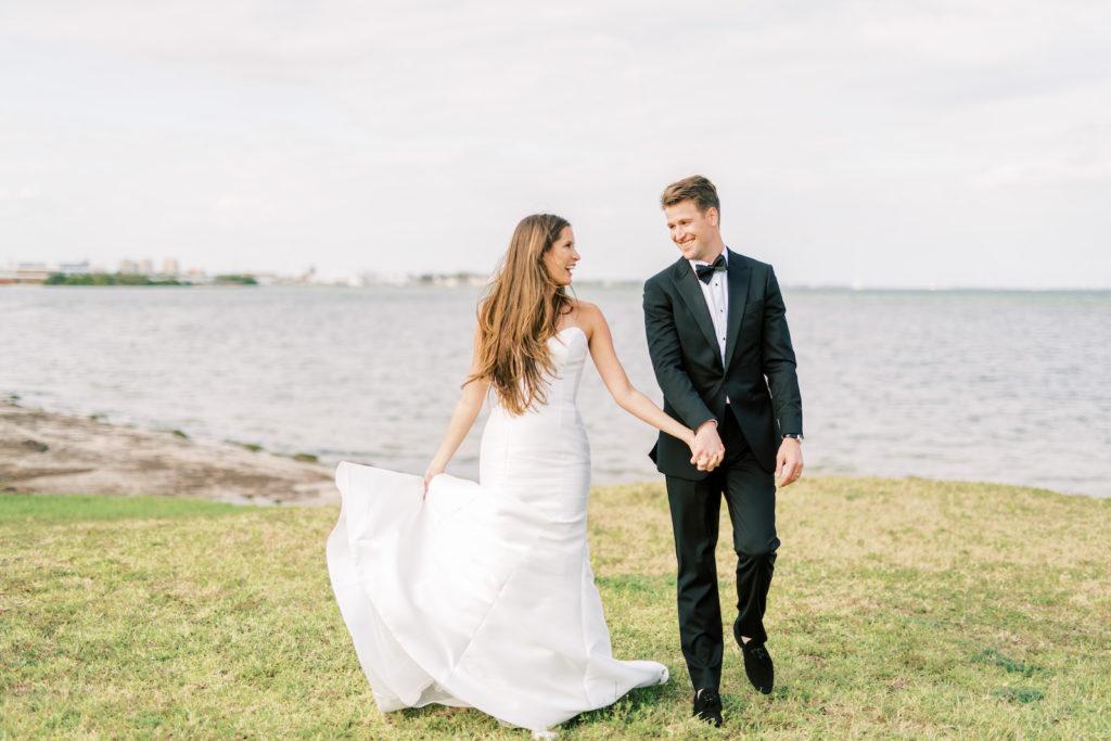 Florida Bride and Groom Outdoor Waterfront Wedding Photo | Tampa Bay Wedding Photographer Kera Photography | Wedding Hair and Makeup Femme Akoi Beauty Studio