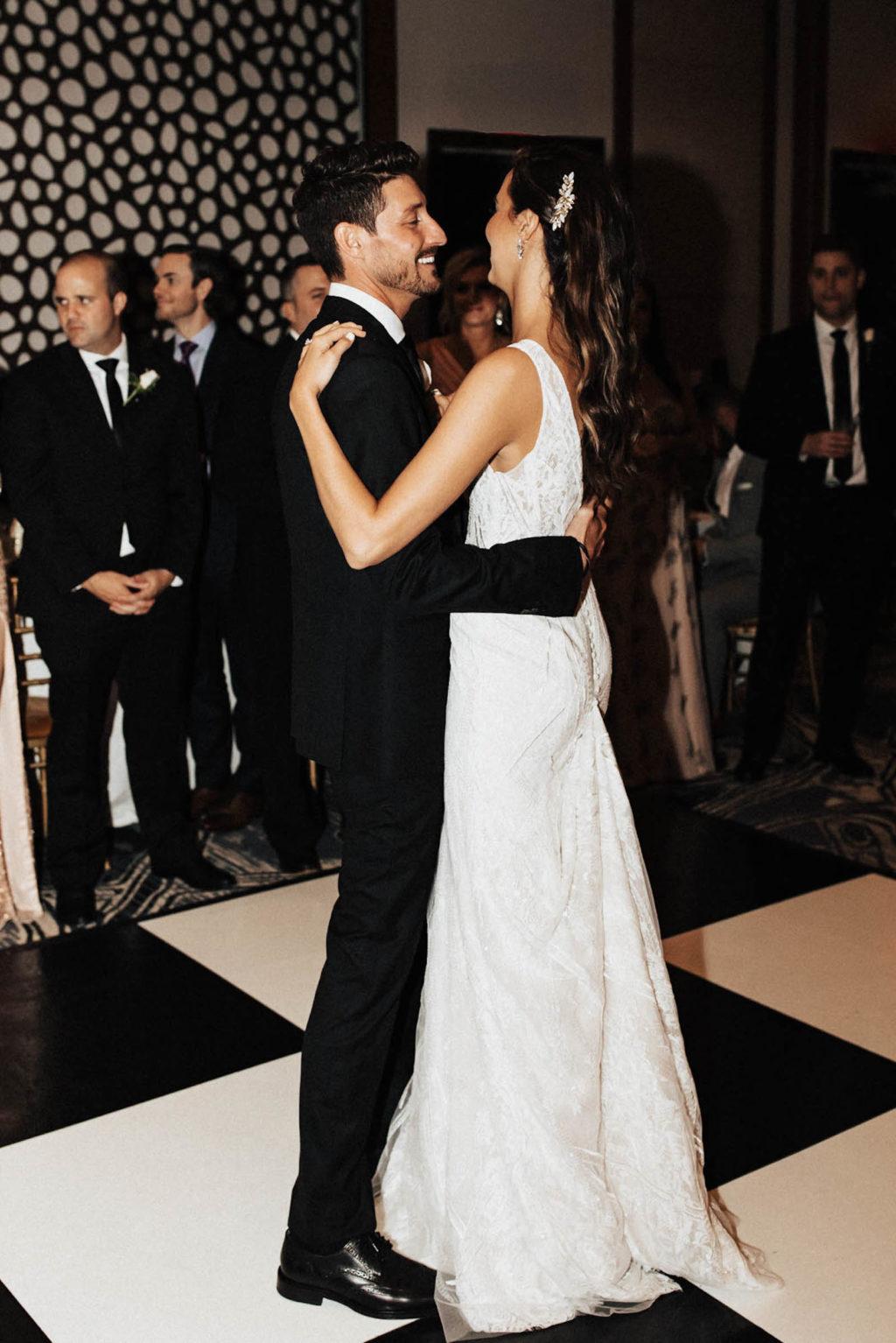 Bride and Groom First Dance Photo | Tampa Bay Wedding DJ Grant Hemond & Associates
