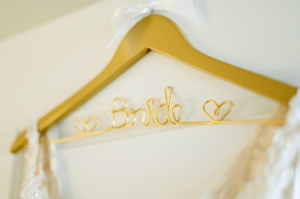 Gold Wire Custom Bride Hanger