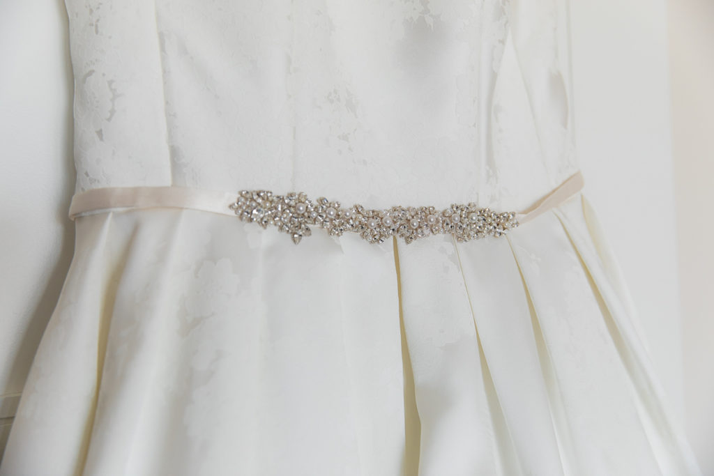 A-Line Wedding Dress with Rhinestone Belt