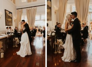 Timeless Bride and Groom First Dance Wedding Reception Photo   Bradenton Wedding Venue The Concession Golf Course