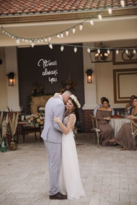 Bride and Groom First Dance Wedding Portrait | Palmetto Riverside Bed and Breakfast