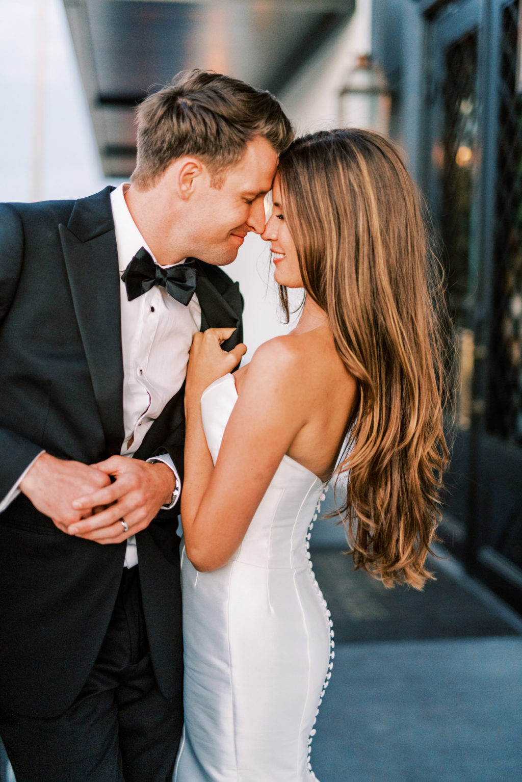 Romantic Classic Bride and Groom in Black Tuxedo Wedding Photo | Tampa Bay Wedding Photographer Kera Photography | Wedding Hair and Makeup Femme Akoi Beauty Studio