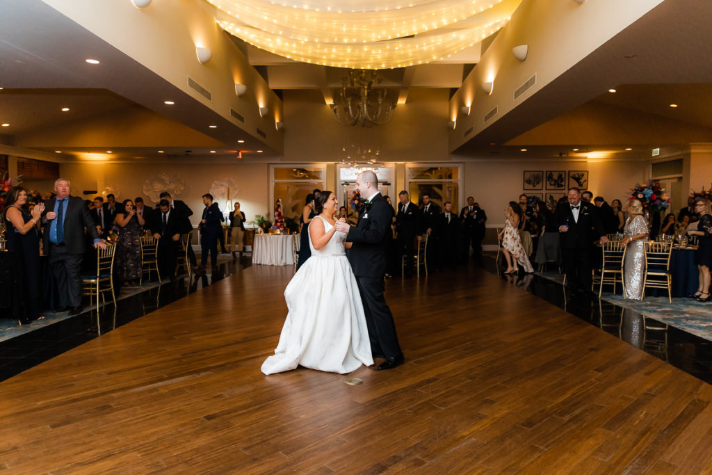 Bride and Groom Wedding Reception First Dance to Live Band | Tampa Wedding Venue The Resort at Longboat Key Club