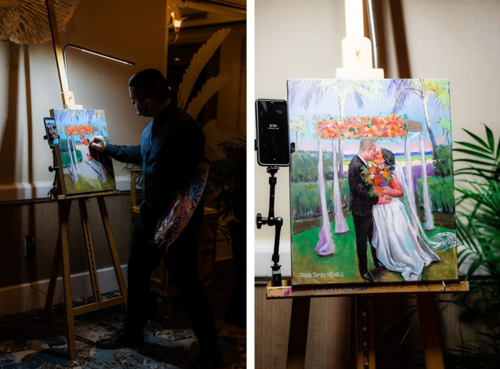 Wedding Reception Entertainment Live Painter