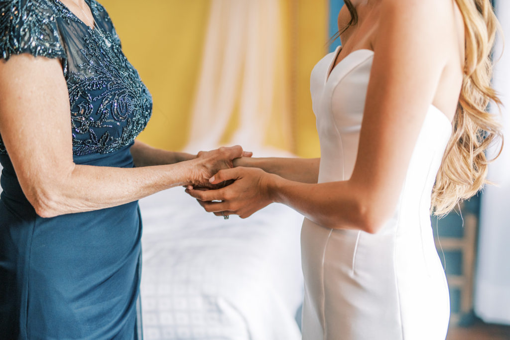 Bride Holding Mothers Hands | Tampa Bay Wedding Photographer Kera Photography