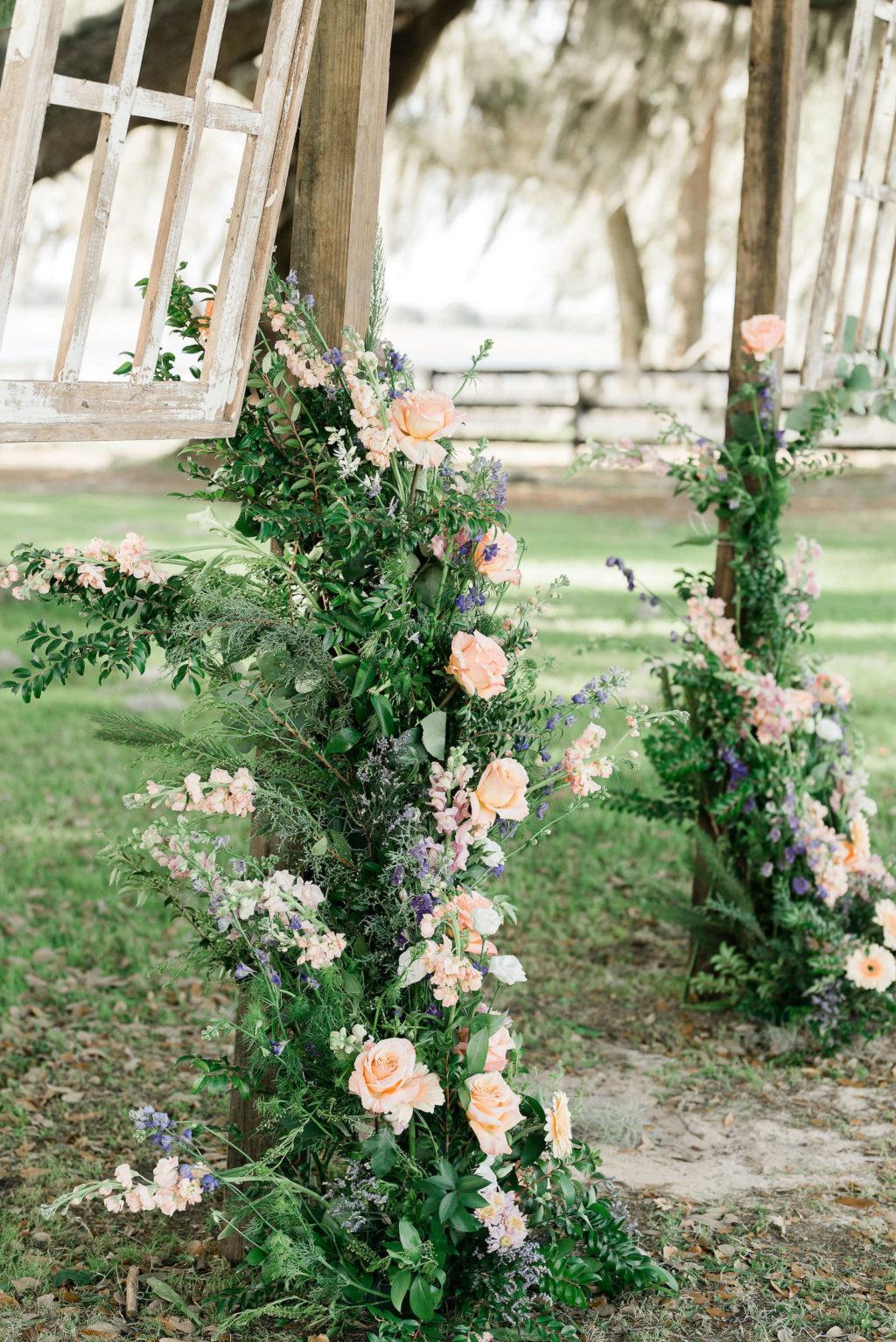 Tampa Farm Wedding Venue   Floral Décor Details with Greenery   Covington Farm