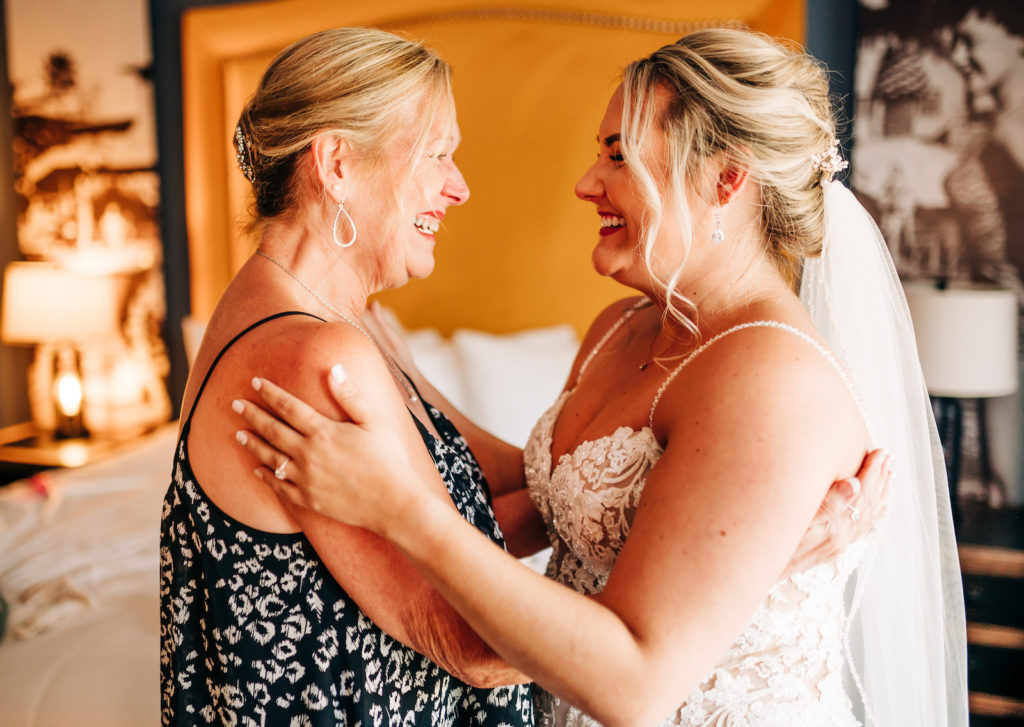 Bride and Mother of the Bride Wedding Portrait | Getting Ready for the Wedding Day Photo
