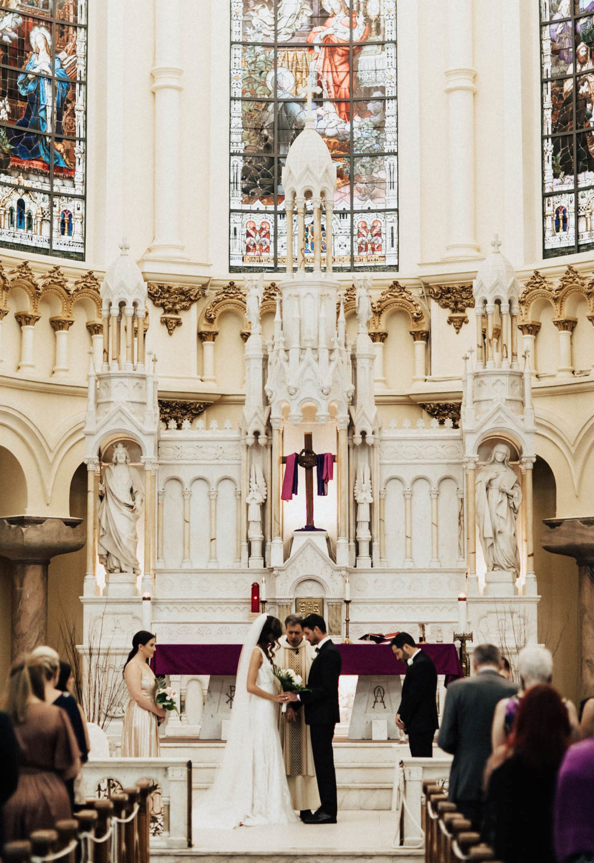 Traditional Catholic Church Wedding Ceremony | Tampa Bay Florida Wedding Venue Sacred Heart Catholic Church