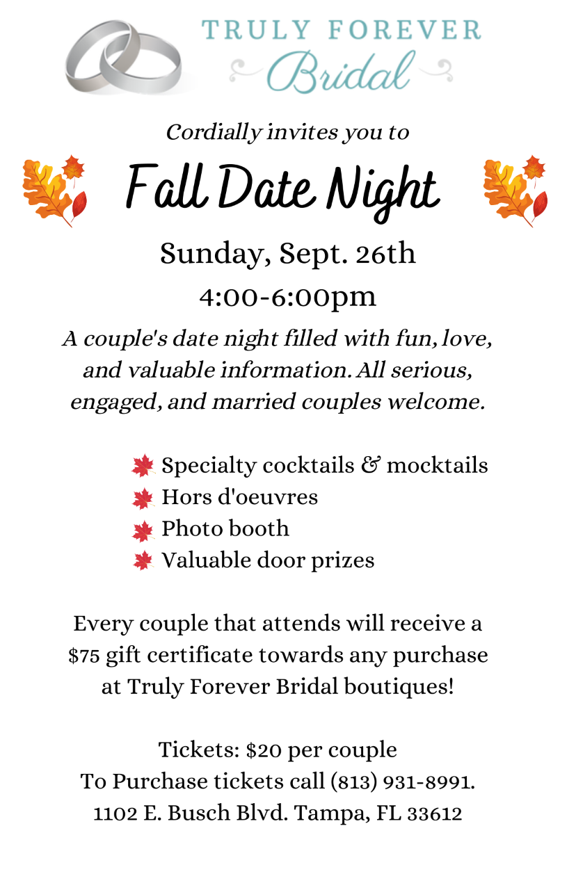 Truly Forever Date Night | Tampa Wedding Bridal Show 2021