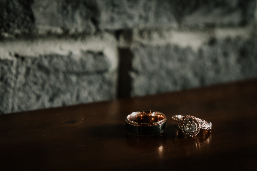 Gold Vintage Style Engagement Ring and Wedding Band | Classic Wedding Rings