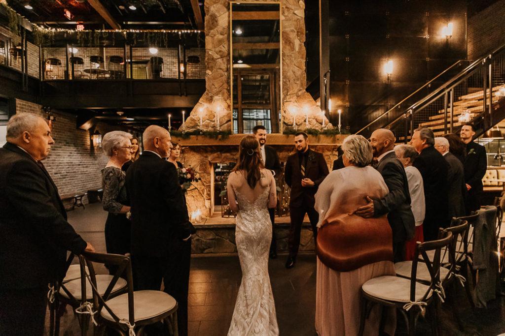 Romantic and Intimate Tampa Bay Wedding Ceremony | Venue Urban Stillhouse