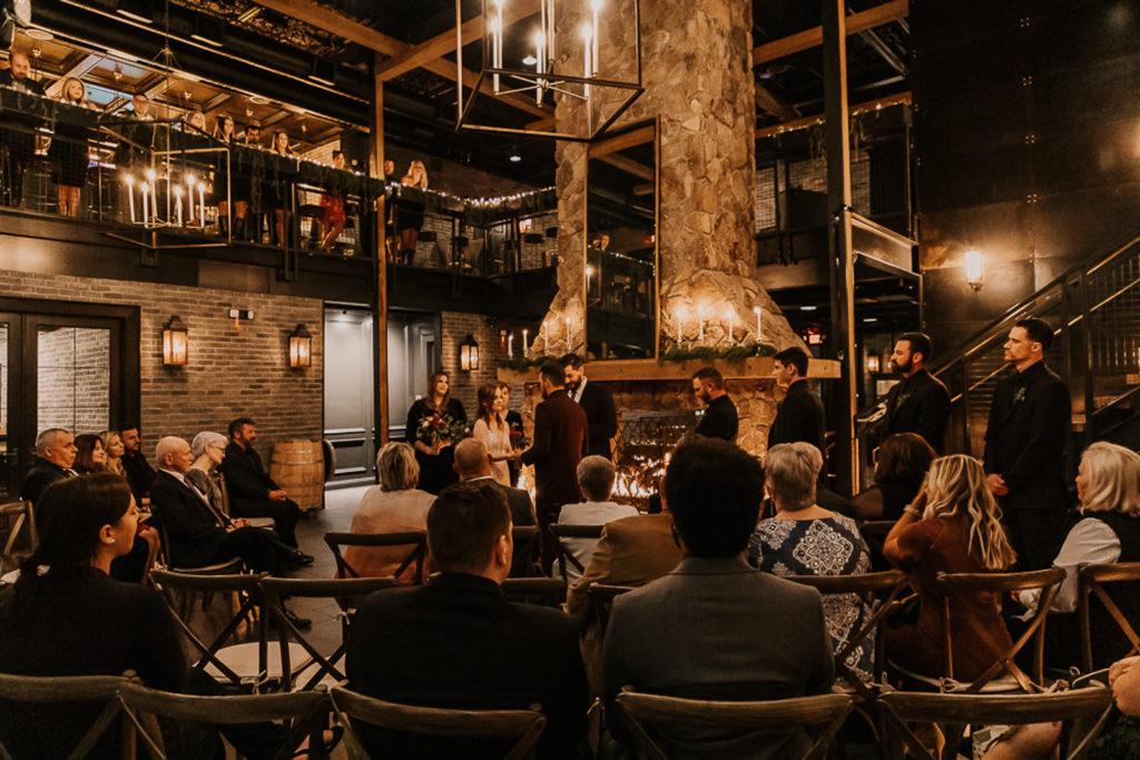 Romantic and Intimate Candlelit Tampa Bay Wedding Ceremony | Venue Urban Stillhouse