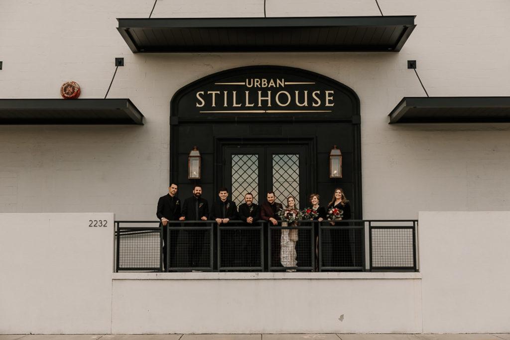 Bridal Party Wedding Portrait | Tampa Bay Wedding Venue Urban Stillhouse