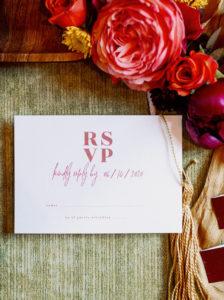 Modern Pink RSVP Wedding Stationery Card | Tampa Bay Wedding Photographer Dewitt for Love