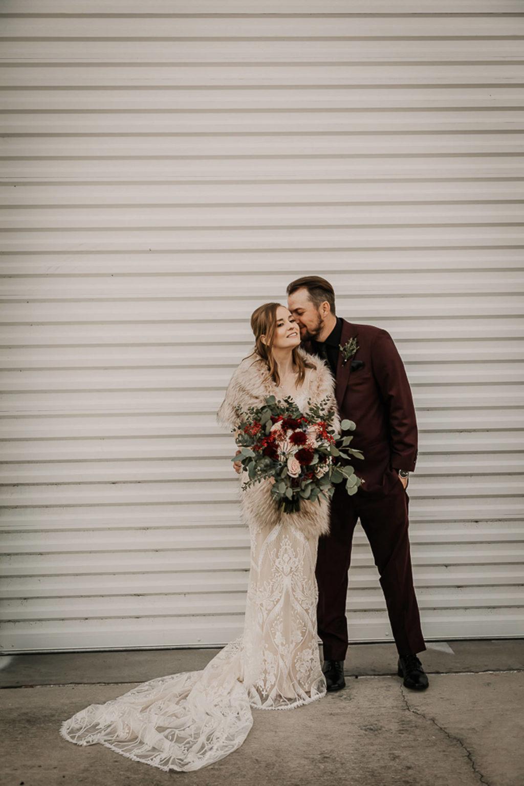 Bride and Groom Wedding Portrait | St. Pete Wedding Venue Urban Stillhouse