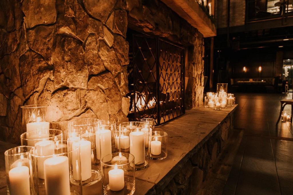 Romantic Candle Wedding Ceremony Décor | Downtown St. Pete Wedding Venue Urban Stillhouse