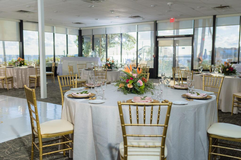 Tropical Wedding Reception Decor | Tampa Wedding Venue The Godfrey Hotel